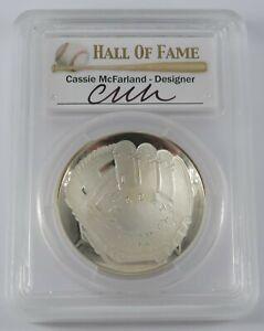 2014 P $1 Baseball Hall of Fame PCGS Gem Proof Cassie McFarland - 30750750