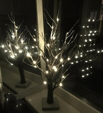 2ft Twig Tree Snowy Effect 24 LED/ Warm White Lights /Christmas Tree/Decoration