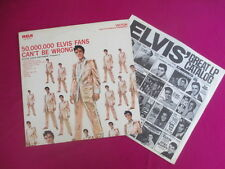Elvis Presley Lp + catalogue insert- Gold records Vol.2, 50,000,000 Elvis Fans