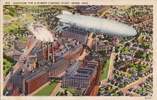 Postcard Goodyear Tire & Rubber Co Plant Akron OH