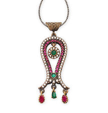 Women's Ottoman Pendant Zircon Necklace Tulip