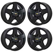 "20"" GM SILVERADO SIERRA 2500 3500 TRUCK BLACK WHEELS RIMS FACTORY OEM SET 4 5503"