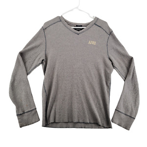 ABERCROMBIE & FITCH Muscle Men's Long Sleeve Thermal Gray Shirt Size XL