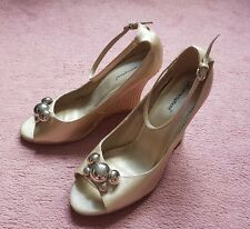 Atmosphere Gold Beautiful Ankle Strap Shoes - Size 6