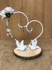 Hand Made Ring holder Pillow Wedding Ring Bearer Cushion Engagement Party white