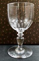 Verre à VIN DU RHIN CRISTAL DE BACCARAT XIXe 1900 JAMBE PRISME Côtes plates