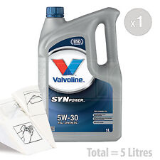 Car Engine Oil Service Kit / Pack 5 LITRES Valvoline SynPower FE 5w-30 5L