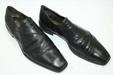 CESARE PACIOTTI men shoes sz 9 Europe 43 black leather S8201