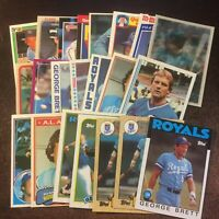 George Brett Kansas City Royals Baseball Card Lot x22 Various Years/Companies
