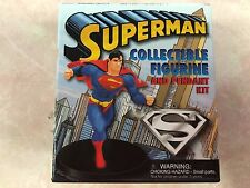 RUNNING PRESS SUPERMAN COLLECTIBLE FIGURINE AND PENDANT SET