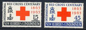 NEW HEBRIDES 1963 RED CROSS CENTENARY SG96/97 BLOCKS OF 4 MNH