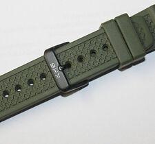 KHS Ersatzbänder Silikonband Diver Band Taucher Armband Grün Militäruhren 20mm