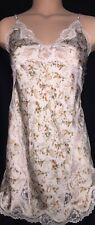 Victorias Secret Floral Satin Lace Sexy Sleep Shirt Slip Gown PJ S NWT