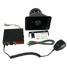 100W Police Fire Siren Horn Speaker Car Emergency Warning Alarm 8 Sound Loud New