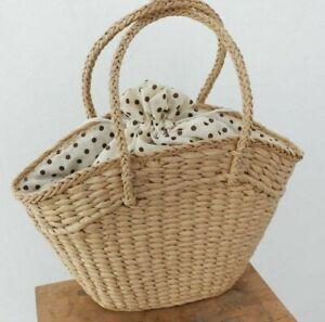 Women Handbags 41x35cm Rattan Wicker Woven Shoulder Bags Summer Beach Large Tote