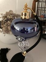 Gorgeous Hand crafted Blown Art perfume bottle Atomizer With Tall Glass Stand