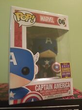 🔥 #06 Captain America Marvel Funko Pop! 2017 Summer Con Exclusive box damage