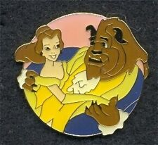 Old Disney Channel Pin 10th Anniversary Belle Beauty and the Beast Dancing HTF