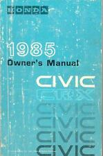 1985 Honda Civic CRX Owner's Manual fo521-3APS2Y