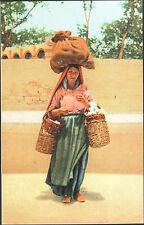 CARTOLINA D'EPOCA - PALERMO, VENDITRICE DI RICOTTE - 1910 FOTO ALINARI