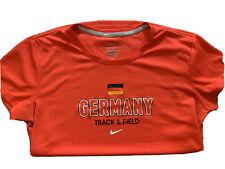 Nike Womens Tee Shirt Dri-Fit Germany Medium Track and Field  rare Free Ship