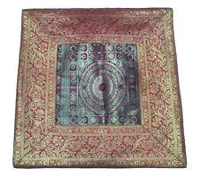 """mandala sari ethnic silk Banarsi cushion covers mandala 15""""x 15"""" inches Free Sh"""