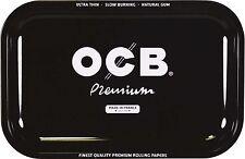 Medium OCB Black Metal Cigarette Rolling Tray