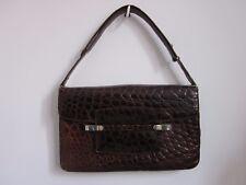 Très beau sac à main en croco 1970 vintage Paris dégriffé