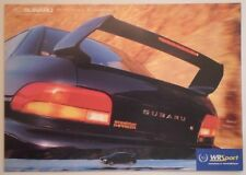 SUBARU PERFORMANCE ACCESSORIES 1999 UK Mkt Brochure - Impreza WR Sport Prodrive