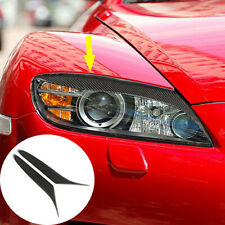 Carbon Fiber Headlight Eyelid Eyebrow Cover Trim For Mazda RX-8 Coupe 2004-08