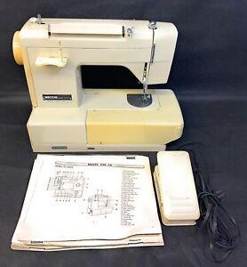 FOR PARTS/REPAIR Vintage Necchi 535FA Domestic 10 Stitch Sewing Machine + Pedal