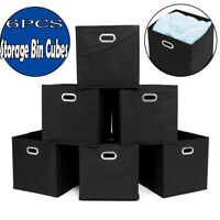2019 Home Storage Bins Organizer Fabric Cube Boxes Basket Drawer Container 6Set