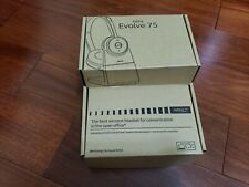 Jabra Evolve 75 Bluetooth Headset, w/Link 370 + Hard Case +Charging Stand