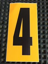 Go Kart - Number #4 - Yellow Background - Large - NEW