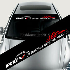 Reflective REV Car Styling Front Windshield Banner Decal Vinyl Car Stickers DIY