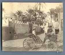 Egypte, Assiout (أسيوط) Vintage citrate print. Vintage Egypt.  Tirage citr
