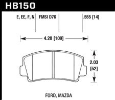 Hawk Disc Brake Pad Front for 67-85 Mazda RX-7 / RX-2 / 1500 / 1800 / B1800