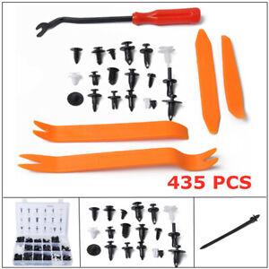 435 PCS Car Door Panel Tool Kit Rivet Screw Clip Fastener Trim Retainer Plastic