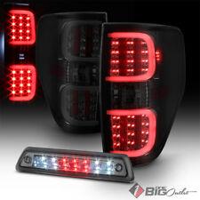 For 09-14 F-150 Smoked Lens DRL-Light-Bar LED Tail Lights + LED 3rd Brake Light