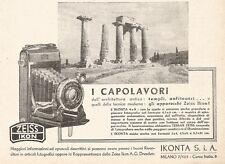 W2882 ZEISS IKON Ikonta 6 x 9 - I Capolavori... - Pubblicità del 1937 - Old ad