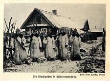 1915 Winterschlacht in den Masuren * Wachposten in Winterausrüstung *  WW1