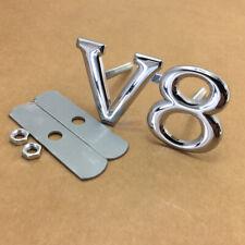 For Mercedes Benz V8 Grille Chrome Metal Front Grille Grill Badge Emblem