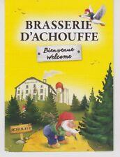 Br. MOORTGAT - LA CHOUFFE  // Reclame folder  Brasserie D'Achouffe Welkom....