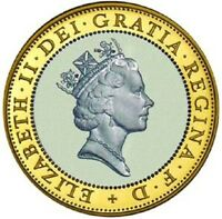 1997 £2 QUEEN WITH NECKLACE NECKLESS TWO POUND COIN RARE COIN HUNT 01/32 2 zz