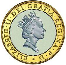 1997 £ 2 QUEEN con collana Afri due Pound Coin RARA medaglia caccia 01/32 2 XX