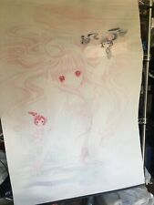 Chobits Chi Anime Wall Scroll Used Faded 29.5�x40�