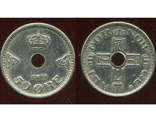 NORVEGE  50 ORE 1940