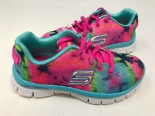 NEW! Skechers Youth Girl's GROOVE THANG Lace Up Shoes Multi #81812L* 177B az