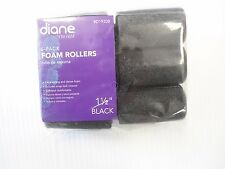 "Diane Soft Foam Cushion Hair Rollers Curlers Jumbo 6-pieces 1 1/2"" Black D1920B"