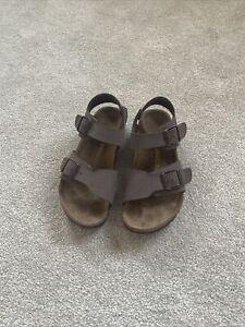 Junior/Boys/Girls Birkenstock-Brown Nubuck Sandals Size 32 UK 13.5 -Hardly Worn